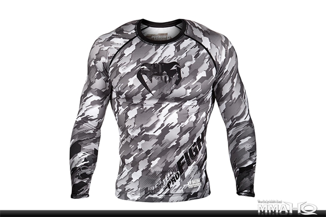 Venum Tecmo Grappling Rashguard - BlackGrey